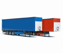 WALTER LEASING - All trailers can be delivered with neutral curtains (choice of colours available).